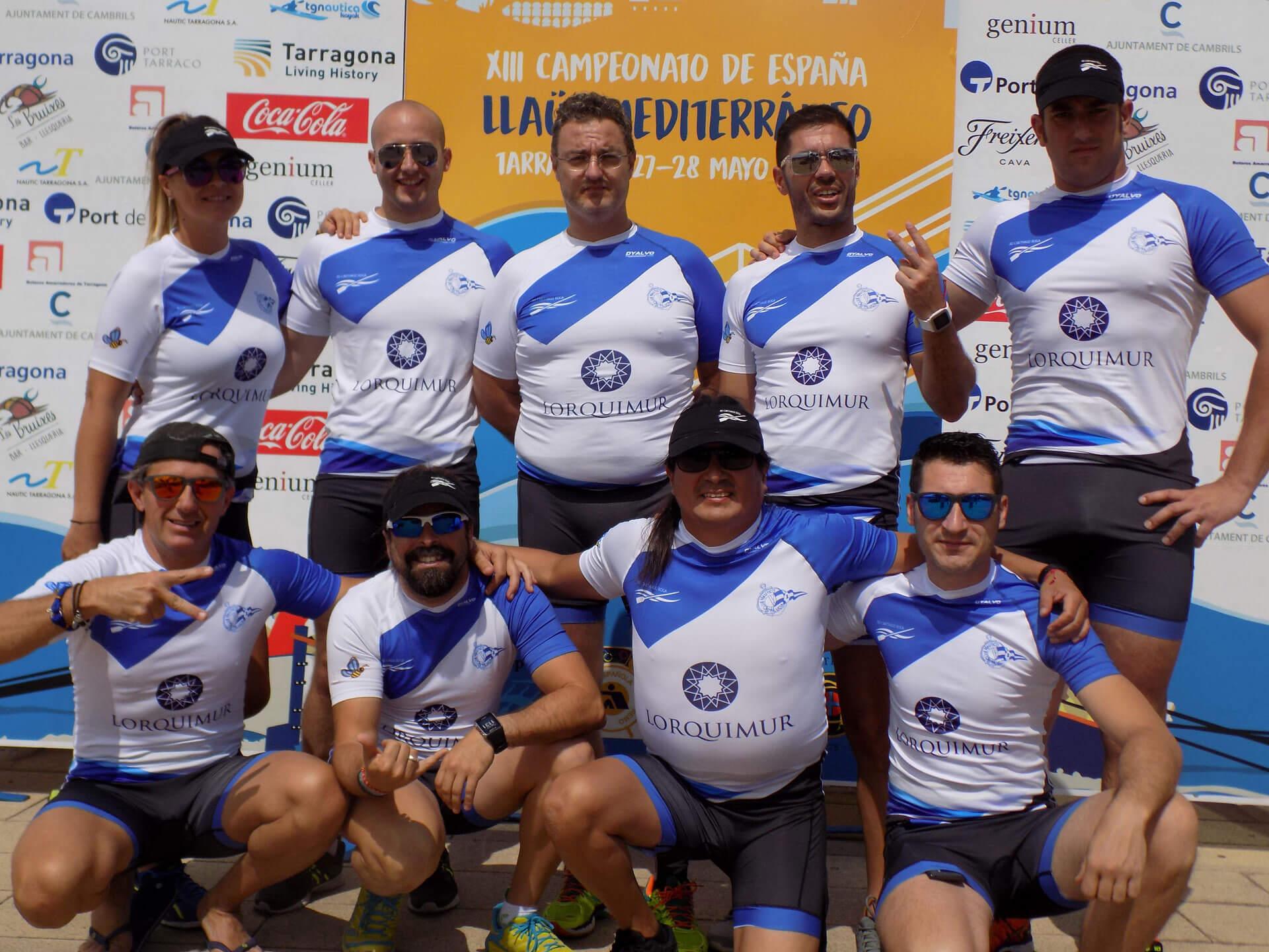 Equipo CN Santa Lucía en XIII Campeonato de España de Llaüt Mediterráneo