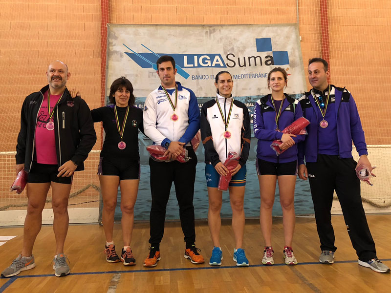 Podio Campeonato Autonómico de Remoergómetro de la Comunidad Valenciana